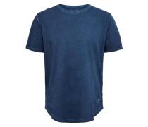 T-Shirt Tailliertes blau