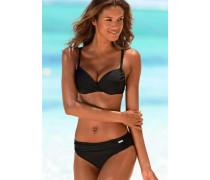 Wattierter Bügel-Bikini schwarz
