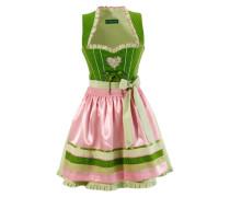 Dirndl kurz mit Hirschstickerei grün / pink
