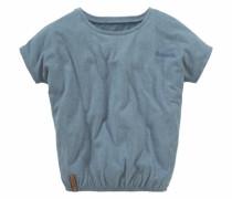 T-Shirt mit Fledermausärmeln blaumeliert