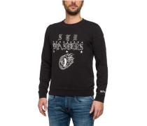 Sweatshirt im Vintage-Style mit Print schwarz / weiß