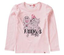Langarmshirt Friends für Mädchen rosa / schwarz