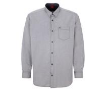 Klassisches Baumwollhemd grau