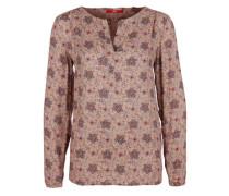Tunika mit floralem Allover-Print chamois / mischfarben