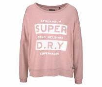 Oversize-Shirt 'norcid Brushed Top' rosé / weiß