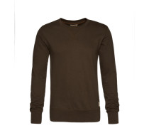 Sweatshirt im unifarbenen Design 'Sven' grün