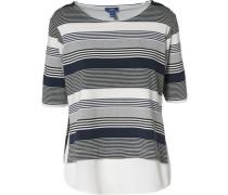 T-Shirt dunkelblau / naturweiß