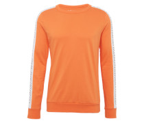 Langarmshirt 'LS Tape' orange / weiß