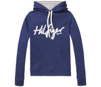 Sweatshirt 'thdw Basic Graphic HD Hknit L/S 12' blau