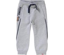 Jogginghose für Jungen hellblau / graumeliert / orange / schwarz