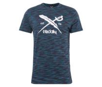 T-Shirt aus Baumwolle navy / beere