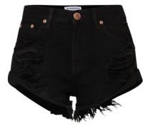 'ka2975' High Waist Denim Shorts schwarz
