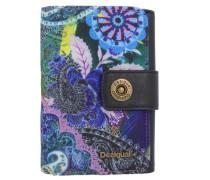 'mone Lengüeta S Boheme' Geldbörse 15 cm blau / smaragd / lila