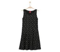Jerseykleid mit Sternenmuster schwarz / weiß