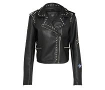 Jacke aus Lederimitat 'maika' schwarz