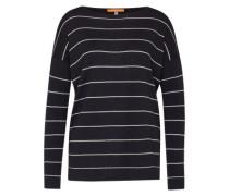 Streifen-Shirt 'Wendelly' dunkelblau / weiß