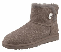 Stiefelette 'Mini Bailey Button Bling Serein' taupe