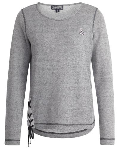 Sweater graumeliert / schwarz