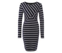 Streifenmix-Kleid dunkelblau / weiß