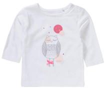 Langarmshirt grau / pink / weiß