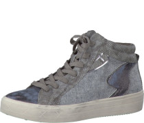 Sneaker im Materialmix taupe