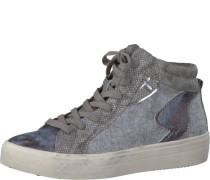 Sneaker im Materialmix grau