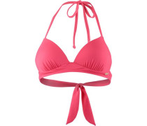 'Essentials' Bikini Oberteil Damen dunkelpink