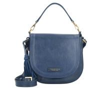Pearldistrict Handtasche Leder 23 cm blau