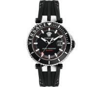 Schweizer Uhr 'v-Race Driver Vak010016' schwarz / silber