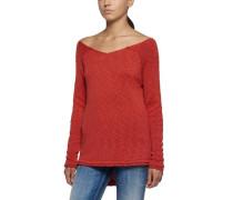 Pullover MIT Weitem Ausschnitt rot