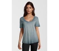 T-Shirt Vneck blau