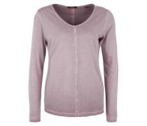 Langarmshirt in Garment Dye lila