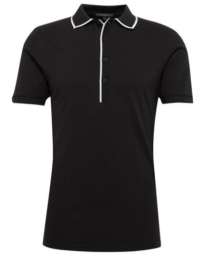 Poloshirt 'garry' schwarz / weiß