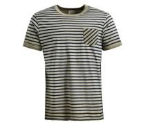 Shirt 'tick' beige / nachtblau