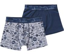 Doppelpack Hipshorts für Jungen blau / grau