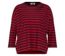 Streifen-Shirt mit Glitzersteinen dunkelblau / rot