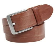 Ledergürtel in Vintage-Optik braun
