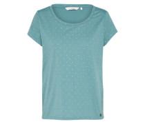 T-Shirt 'New Gry' gold / petrol