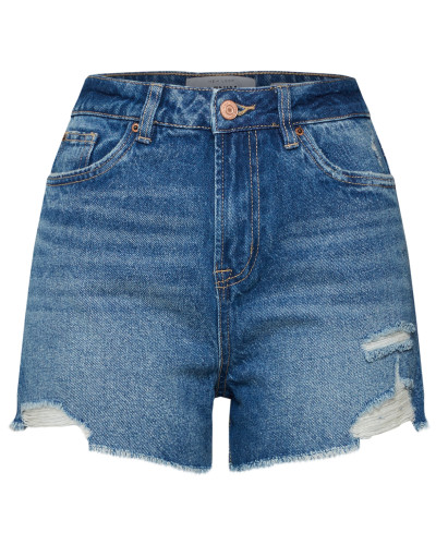Short blue denim