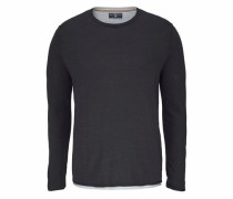 2-in-1-Pullover anthrazit