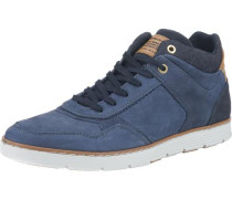Sneakers High blau / braun