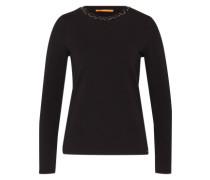 Shirt 'Tacollar' schwarz