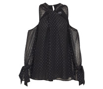 Schulterfreie Bluse schwarz
