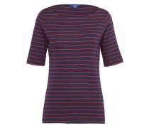 T-Shirt 'basic stripe' navy / rot