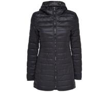 Langer Nylon-Mantel schwarz