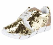 Sneaker mit Two-Tone-Pailletten