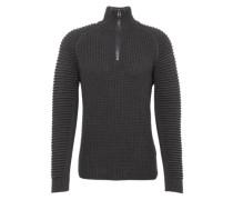 Pullover 'Suzaki 1/2 zip knit l/s' dunkelgrau