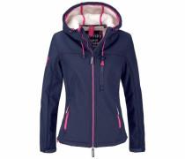 Winterjacke 'hooded Sherpa Windtrekker' indigo / pink