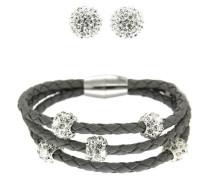 Set Armband & Ohrstecker silber