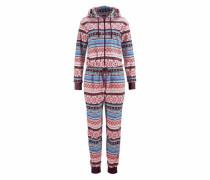 Relax-Jumpsuit mit buntem Norwegermuster mischfarben